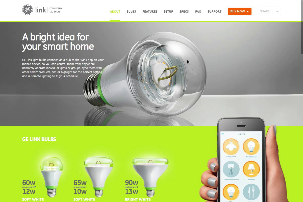 GE Link Bulbs